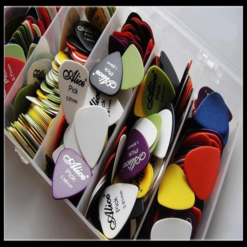 100x Electric Acoustic Guitar Picks Matte Plectrums(Assorted thickness & colors) - intl