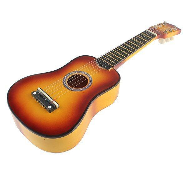 ลดด่วน21 Inch 6 String Acoustic Guitar Orange Yellow มาซื้อเร็ว
