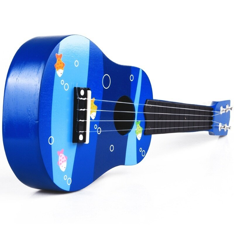 21 inch small guitar Educational Soft Montessori wooden toy for children musical learning string type brinquedos speelgoed jouet - intl