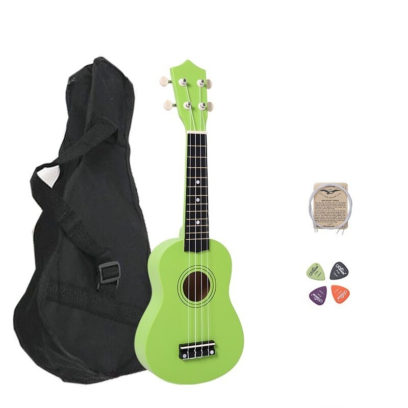 21 Inch Wood Concert Ukulele with Free Bag Spare String Ukulele Pick - intl