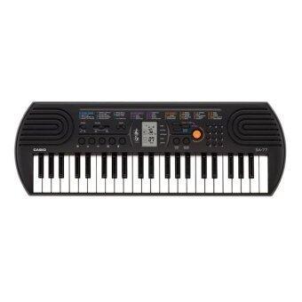 CASIO คีย์บอร์ด Keyboard SA-77+Adapter AD-5X(2010) (Black)