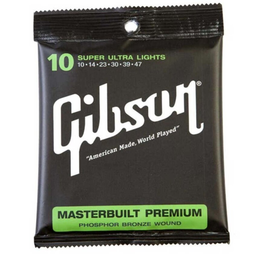 Gibson สายกีตาร์โปร่ง SUPER ULTRA LIGHTS g010 ...