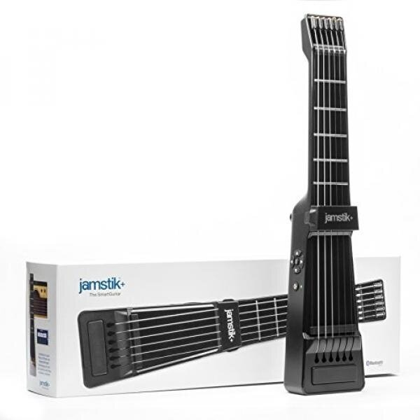 Jamstik+ Black Portable App Enabled MIDI Electric Guitar, for Beginners and Music Creators, iOS, Android & Mac Compatible, with Bluetooth Connectivity, Powered by Zivix - intl