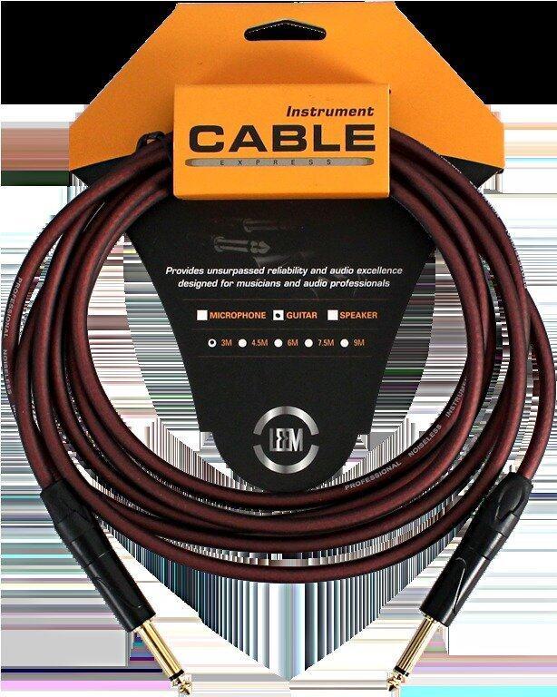LEEM สายแจ็ค Guitar Cable 10ft.3m.O.D-6.5mm. LRG-X1-3 SS
