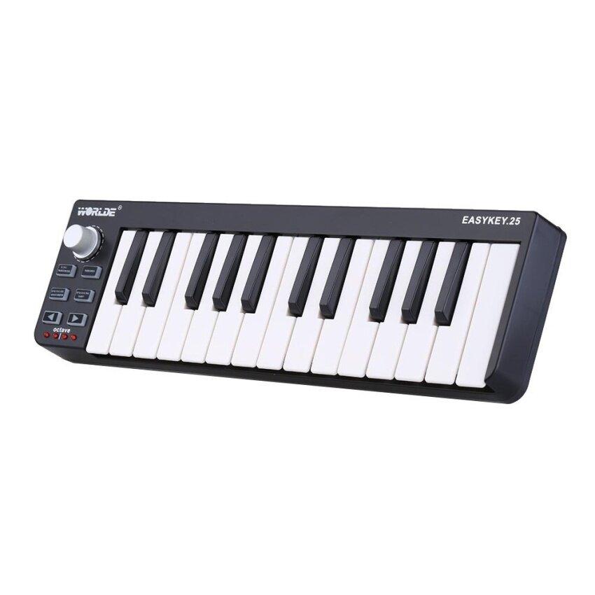 Worlde Easykey.25 Portable Keyboard Mini 25-Key USB MIDI Controller Outdoorfree^ - intl