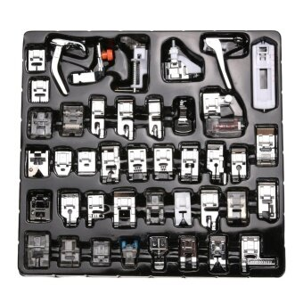 42pcs Domestic Sewing Machine Foot Feet Snap On For Brother Singer Set - intl