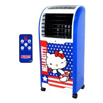 GALAXY พัดลมไอเย็น Hello Kitty พร้อมรีโมทคอนโทรล รุ่น AB-603 สีน้ำเงิน