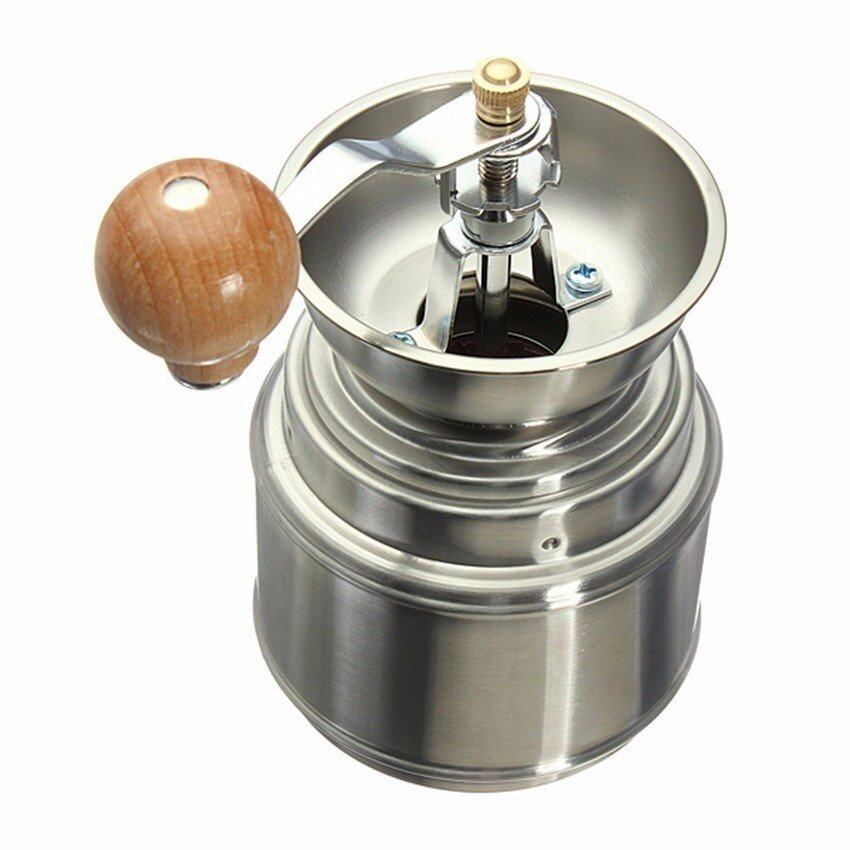 LZ Stainless Steel Manual Spice Bean Coffee Grinder Burr Grinder Withceramic Core - intl