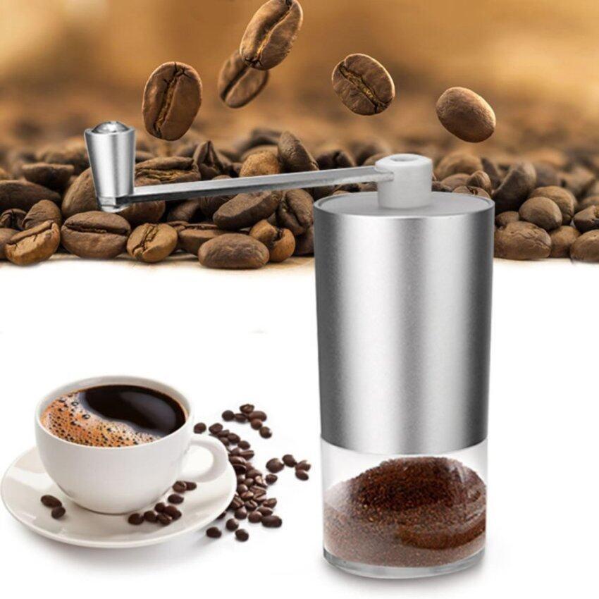 Mini Aluminum Manual Coffee Grinder Coffee Machine for 1-2People - intl