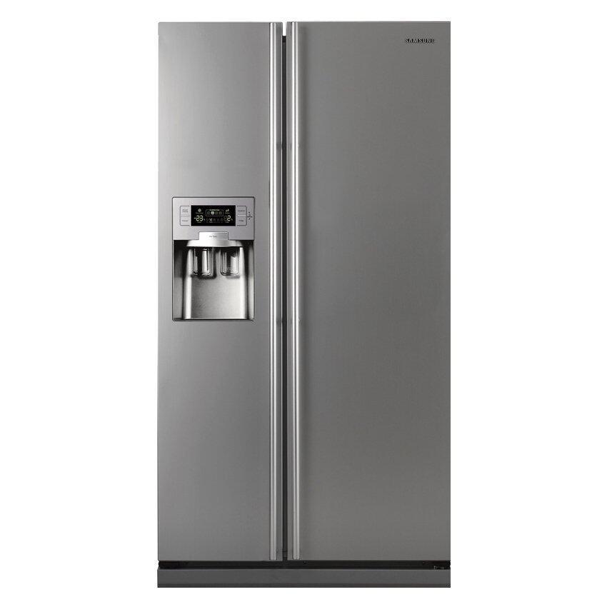 Samsung ตู้เย็น - รุ่น Side by Side Digital Inverter RS21HUESL 19.4 คิว สี Ez Clean steel