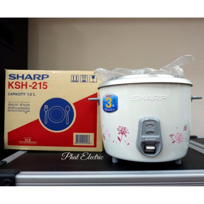 Sharp หม้อหุงข้าว Sharp KSH-215-RB 1.5L.