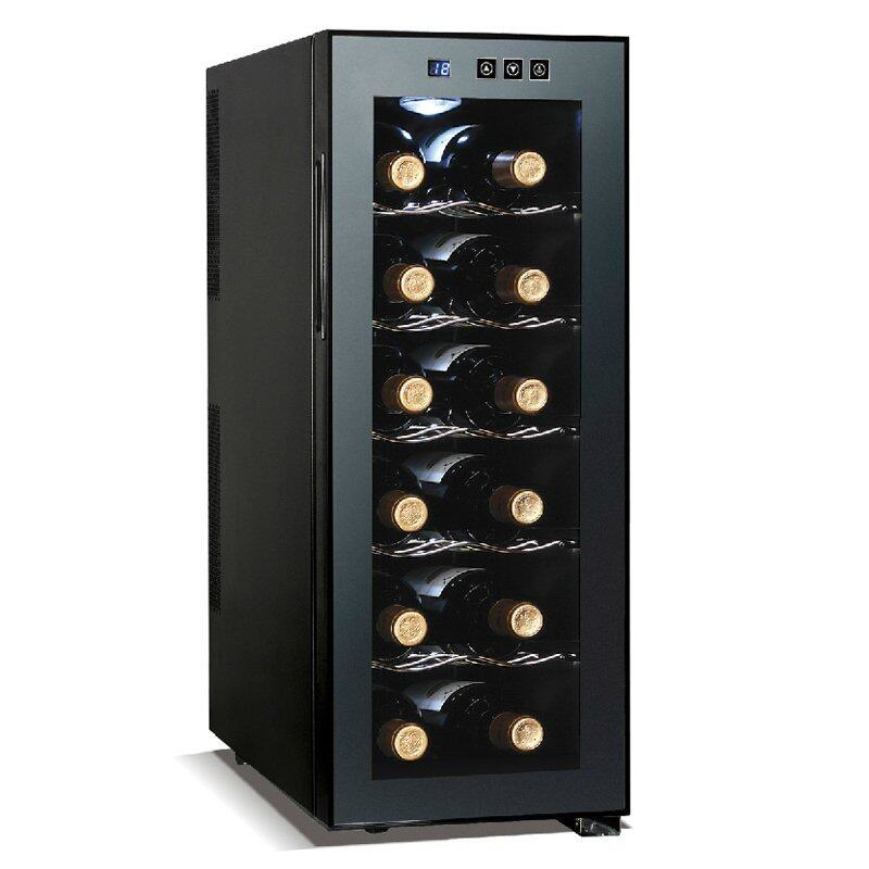 Shop108 ตู้แช่ไวน์ขนาด 12 ขวด รุ่น JC-33C - สีดำ