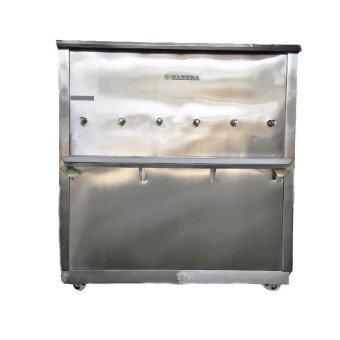 Standard By Rwcตู้ทำน้ำเย็น สแตนเลส ขนาด 6 ก๊อก (ตู้ต่อท่อประปา)