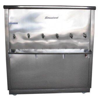 Standard By Rwc ตู้ทำน้ำเย็น สแตนเลส ขนาด 6 ก๊อก
