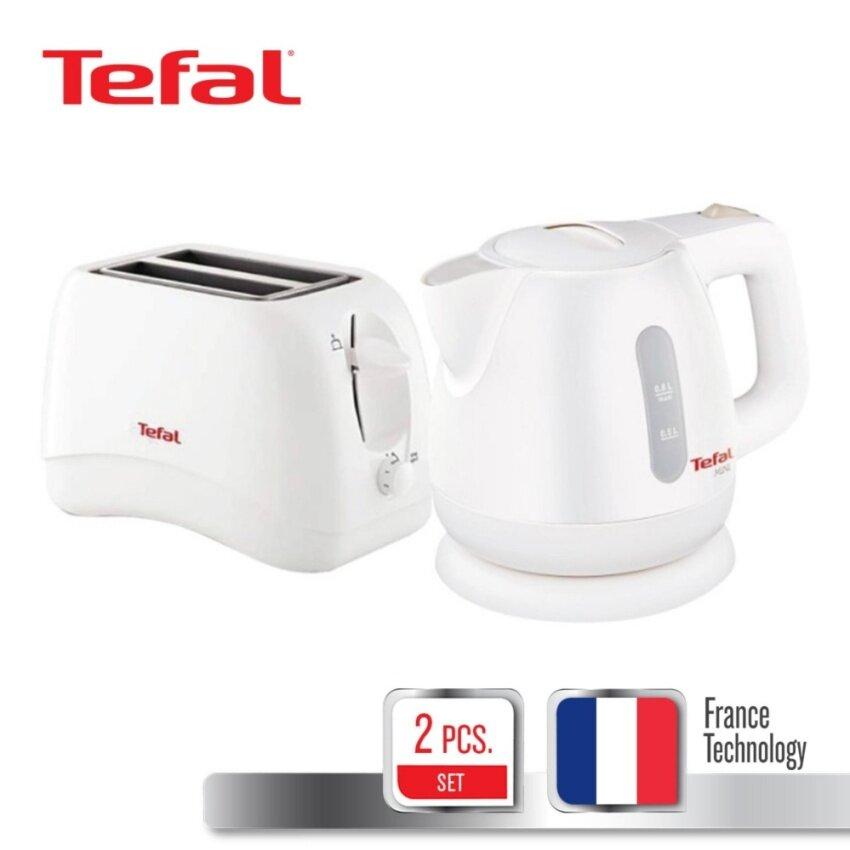 TEFAL ชุดเซตของขวัญ Tea & Toast Set (กาต้มน้ำไฟฟ้า ขนาดความจุ 0.8 ลิตร + เครื่องปิ้ังขนมปัง)