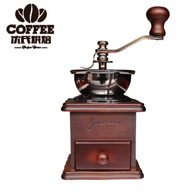 VNXJ-FJ849 VKCKJ Vintage Ceramic Manual Coffee Beans Mill Nut Spice Hand Grinder Stainless Steel - intl
