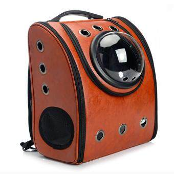 Innovative Pet Carrier Soft Capsule Style Travel Backpack for Cats and Dogs (Brown) - intl