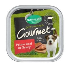 Nature's Gift Food for dog Prime Beef in Gravy (100g.) อาหารเปียกสำหรับสุนัข รสเนื้อวัวในน้ำเกรวี่ (4 Unit)