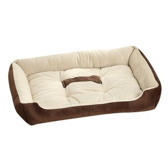 Popular Big Size Large Dog Bed Kennel Mat Soft Fleece Pet Dog PuppyWarm Bed House Plush - Coffee XXS - intl
