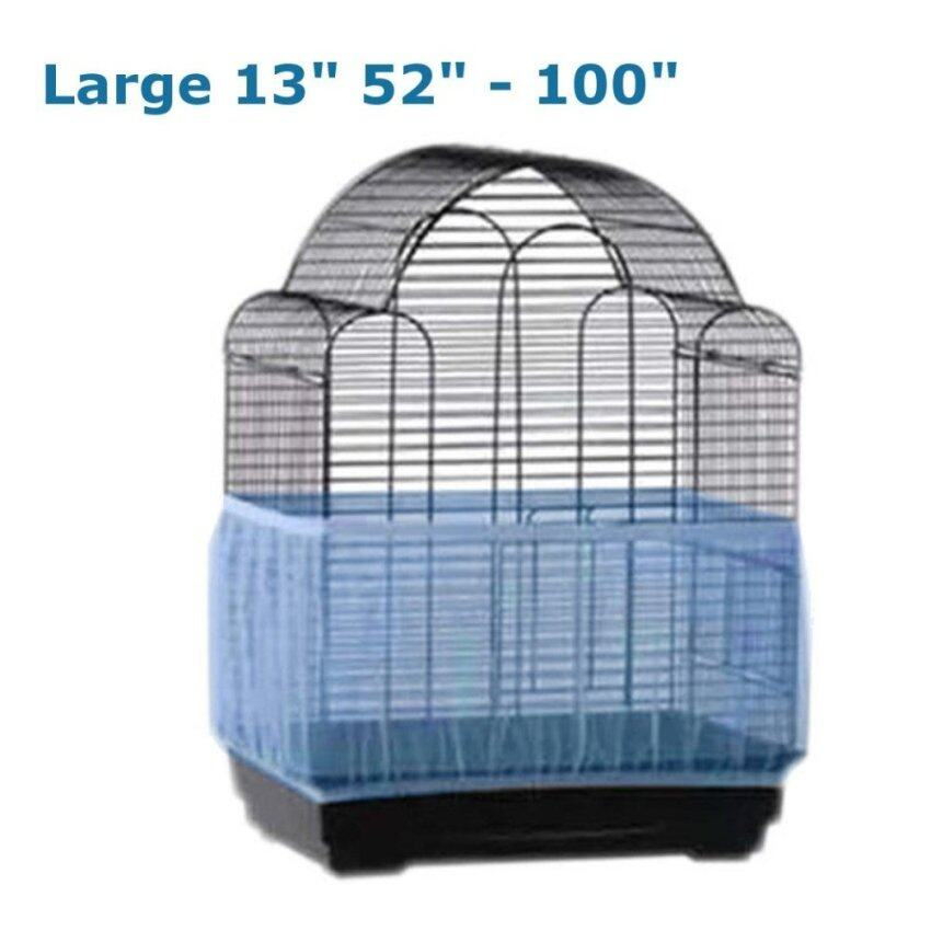 Seed Catcher Guard Mesh Bird Cage Cover Shell Skirt Traps Cage Basket Large - intl ...