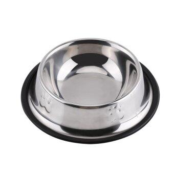 Stainless Steel Pet Dog Cat Feeding Bowl Food Water Dish Holder(15cm) - intl