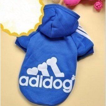 YingWei Dog Pet Cat Sweater Hoody Coat Jacket Puppy clothes L(Dark Blue) - intl