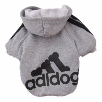 YingWei Dog Pet Cat Sweater Hoody Coat Jacket Puppy clothes M(Grey) - intl