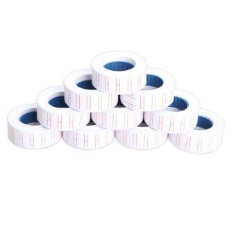 10x Paper Tag Price Label Sticker Single Row for MX-5500 Price Gun Labeller (White/ Red)