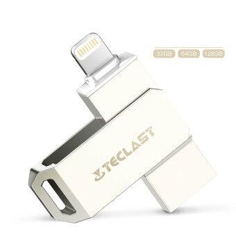 128GB OTG 2.0 Flash Drive HD Pendrive Lightning data for iPhone6s/6splus/7 for PC/MAC(Silver) - intl