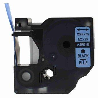1pcs 45016 Label Tape Compatible for Dymo 45016 Black on Blue (1/2inch 12mm) x 7m - Intl