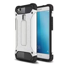 Review พันทิป เช็คราคา 2 In 1 Hybrid Rugged Dual Layer Armor Case Shockproof Soft Silicone Bumper And Hard Pc Protective Case Cover For Huawei P9 Lite-White ...