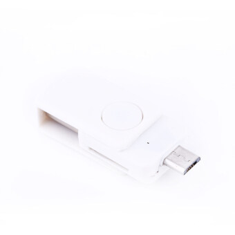 2-in-1 USB 2.0 OTG Adapter + Micro SD TF Card Reader for AndroidPhone ST2 (White)