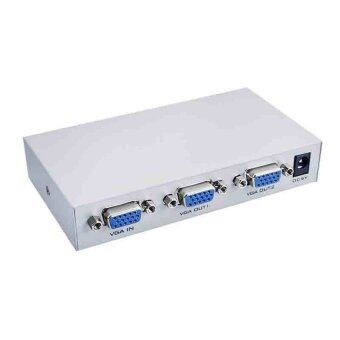 2 Port VGA Video Splitter - 1 in to 2 Out - 1 PC to 2 Monitors (Gray).