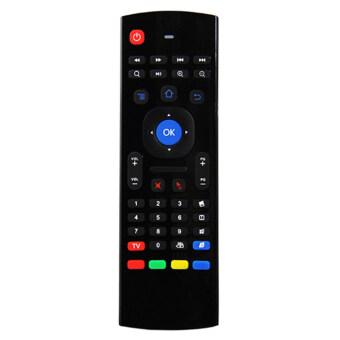 2.4G แป้นพิมพ์เมาส์ไร้สายรีโมทควบคุมเครื่องสำหรับ XBMC Android TV Box (สีดำ)