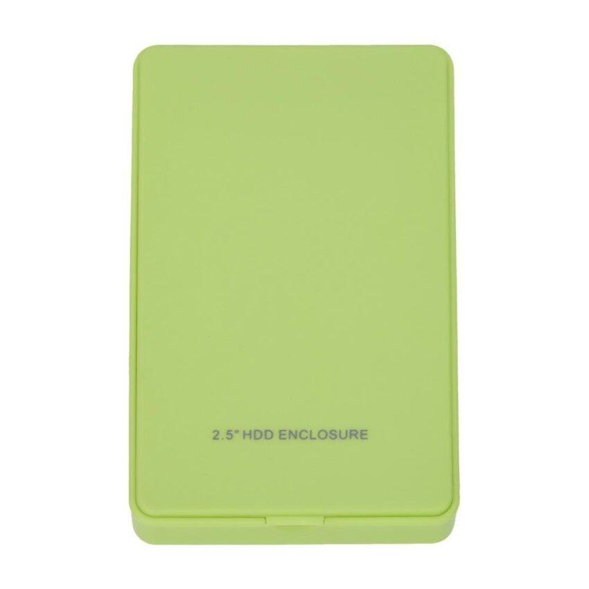 2.5 Inch IDE USB2.0 Mobile Parallel Hard Disk Box No Screw (Green) - intl
