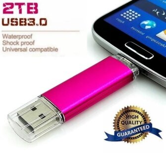 2TB OTG External Storage Usb Memory Stick U Disk Pen Drive Pendrive Usb Flash Drive for Android Smart Phone (Gold) - intl
