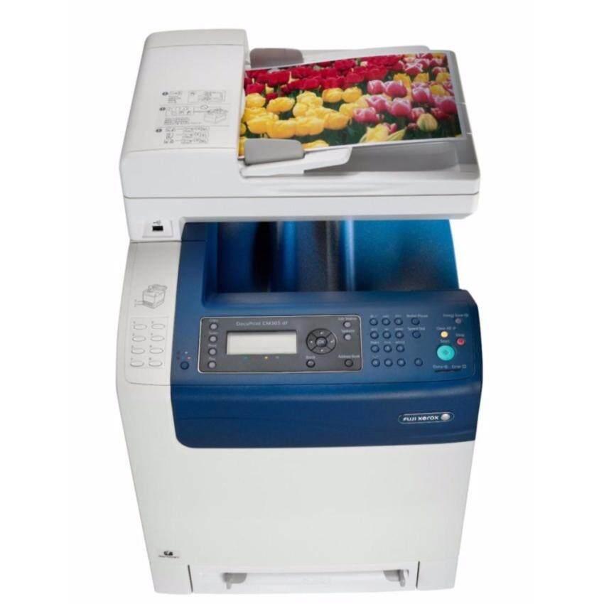 รับประกัน 3 ปี Fuji Xerox DocuPrint MultiFunction Color Laser รุ่น CM305df (Print/Scan/Copy/Fax.) สีขาว