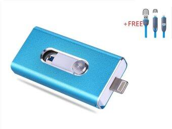 3 in 1 Flash Drive OTG 8GB phone U Disk For Iphone/Iphone 7/Android +Free 2 in 1 usb cable(blue)