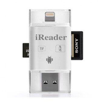 3 in 1 iFlash Drive USB Micro SD TF Card Reader for iPhone/iPad +64GB Micro SD Card