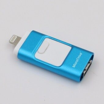 3 in 1 memory stick 256GB Otg Usb Flash Drive For iPhone7/ipad/PC/Android—blue - intl