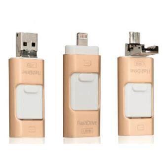 3 in 1 memory stick 64GB Otg Usb Flash Drive For iPhone7/ipad/PC/Android—gold - intl