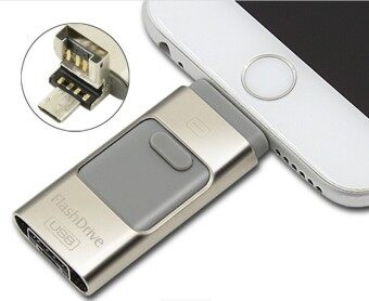 3 in 1 memory stick 8GB Otg Usb Flash Drive For iPhone7/ipad/PC/Android—silver - intl
