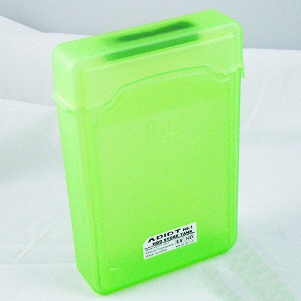 3.5' IDE SATA HDD Hard Drive Disk Protection Plastic Storage Box Case Enclosure Green .