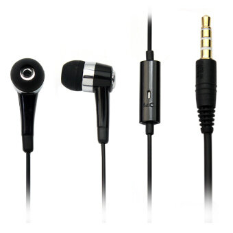 3.5mm In Ear Headphone Microphone Headset Handsfree For Samsung Galaxy i8000 - intl