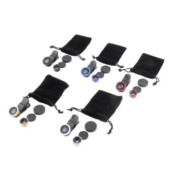 3in1 Mini Fisheye Wide Angle Macro Lens For Samsung Galaxy S4 S5 iPhone 4/5/6