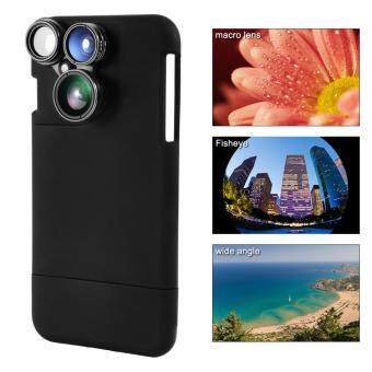 4in1 Wide Angle Macro Fisheye CPL Camera Lens Kit Black Case Cleaning Cloth for iPhone7 Plus