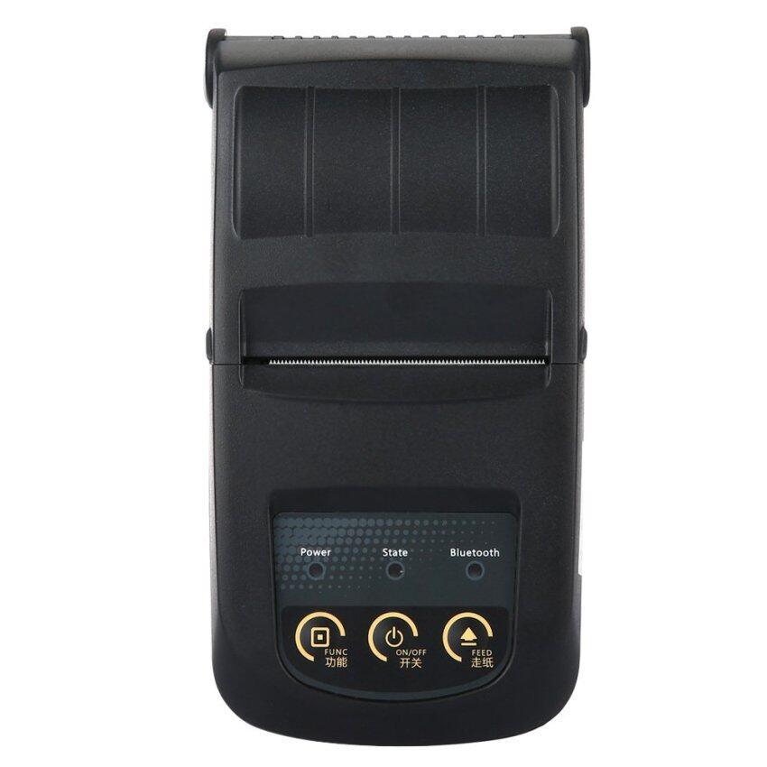 แบบพกพามินิ 58มมความร้อนเครื่องพิมพ์บลูทูธ-สีดำ (ปลั๊กของ eu)