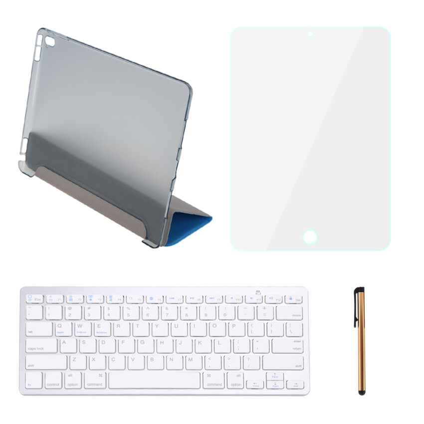 9.7 Stand Leather Case + Bluetooth Keyboard + Stylus Pen + Screen Protector For iPad Pro ...