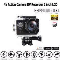 กล้อง วีดีโอ Action Camera 4k 30fps Ultra Hd 170° Angle Wi-Fi Sports Waterproof พร้อมอุปกรณ์เสริม ราคา 1,790 บาท(-51%)
