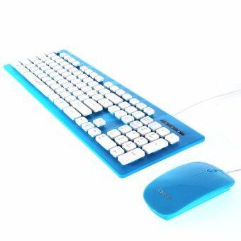 คีย์บอร์ด&เมาส์ (2in1) USB OKER (KM-2068) Blue